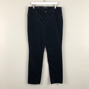 Talbots Flawless Five Pocket Straight Velvet Pants